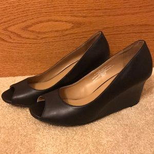 Merona Black Heels w/ open toe